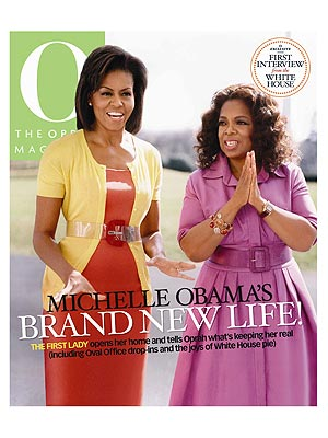 Oprah magazine michelle obama
