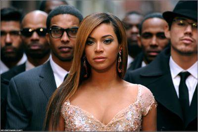 Beyonce video shoot