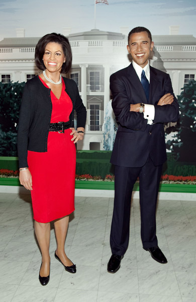 Michelle obama barack obama wax
