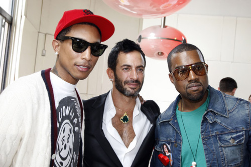 KANYE WEST AND PHARRELL WILLIAMS SPOTTED AT LOUIS VUITTON SPRING/SUMMER '09