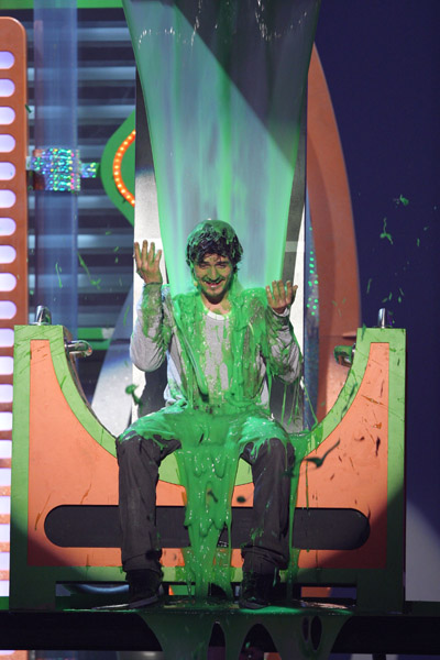 Orlando Bloom on Orlando Bloom Slimed