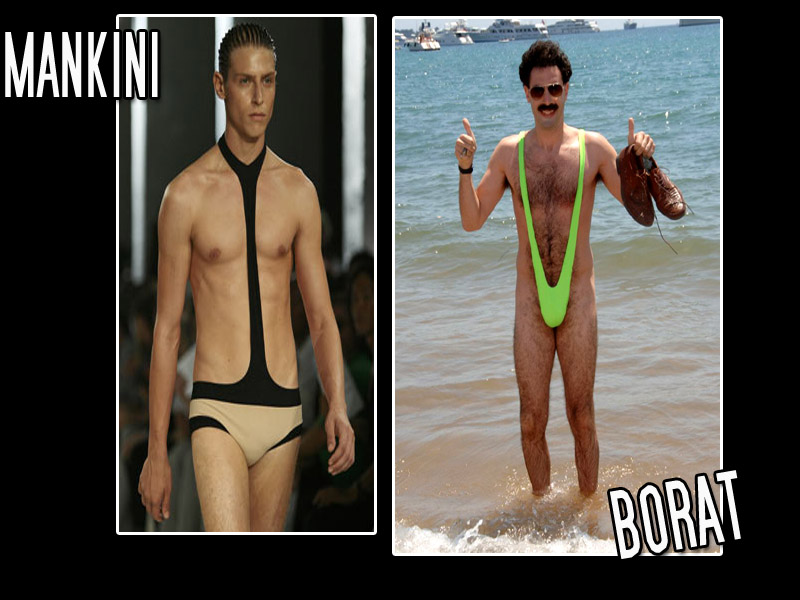 BORAT THONG SWIMSUIT INSPIRES 'MANKINI' BATHING SUIT ALEXANDER MCQUEEN ...
